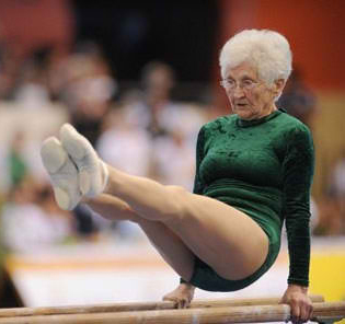 86 Year Old Gymnast Has Amazing Skills!